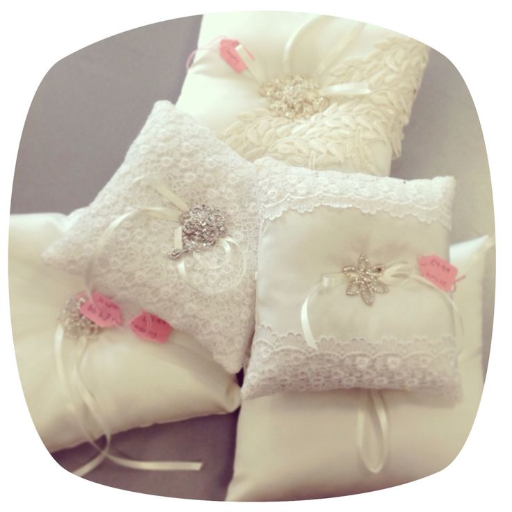 Super pretty handmade ring cushions! Something wonderfully unique for any bride