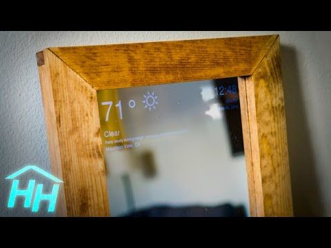 Here's how to build your own smart mirror [materials, 3d printable parts, application code in the description]