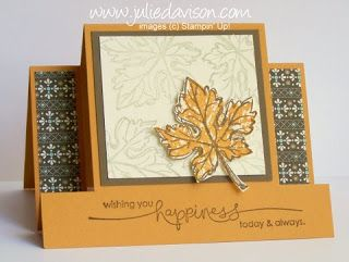 Julie's Stamping Spot -- Stampin' Up! Project Ideas Posted Daily: Horizontal Center Step Card Tutorial