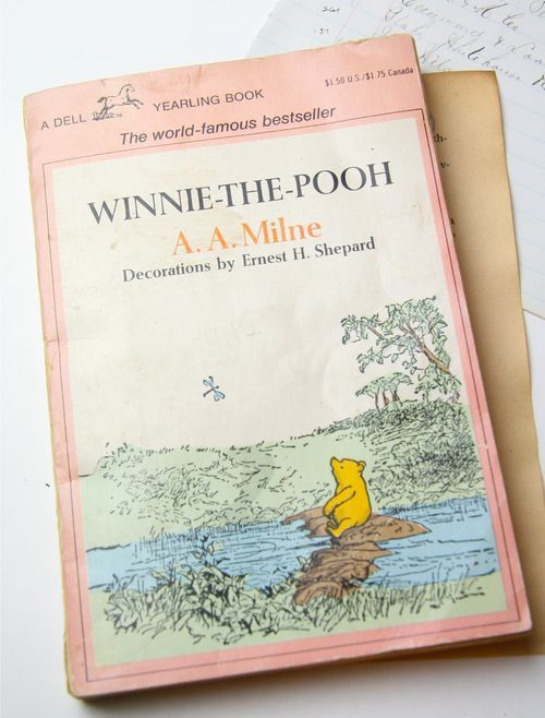 My hero. Pooh Bear. Lilly doesn't know it but her bear, Whiffins,