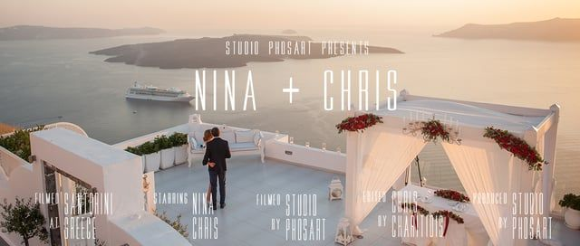Wedding Proposal in Santorini | Nina & Chris | by Phosart