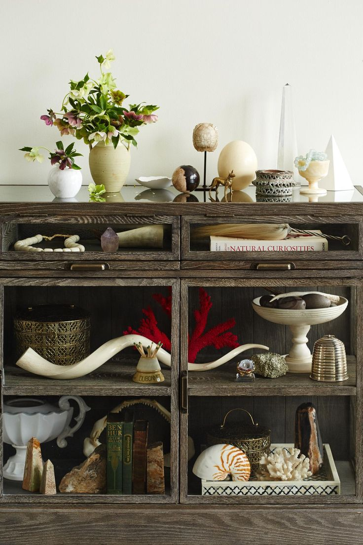 There is a dressing table mirror and lockers and drawersgalore - A Modern Curio Cabinet