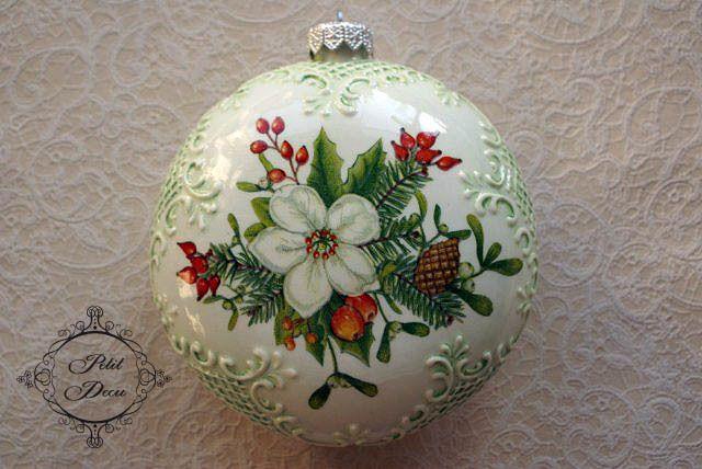 Декупаж на рождественских шаров - Google Search