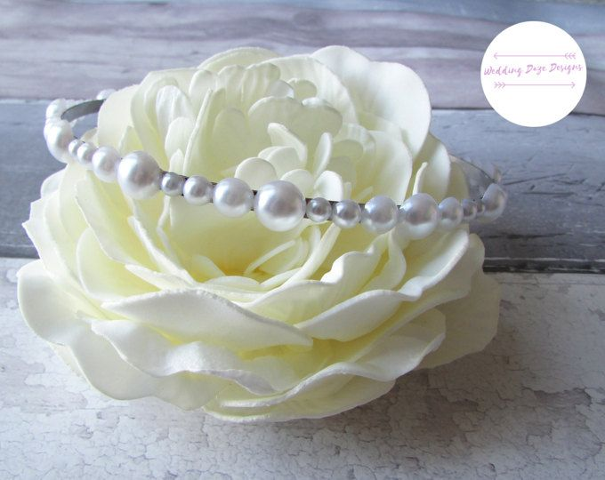 White Pearl Hairband, Bridesmaid Headband, Wedding Hair Accessory, Pearl Headband, Bridal Hairband, Pearl Hair Accessory, Wedding Hair