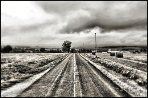 Una strada della borgogna