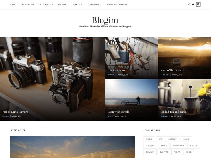 Blogim — Free WordPress Themes