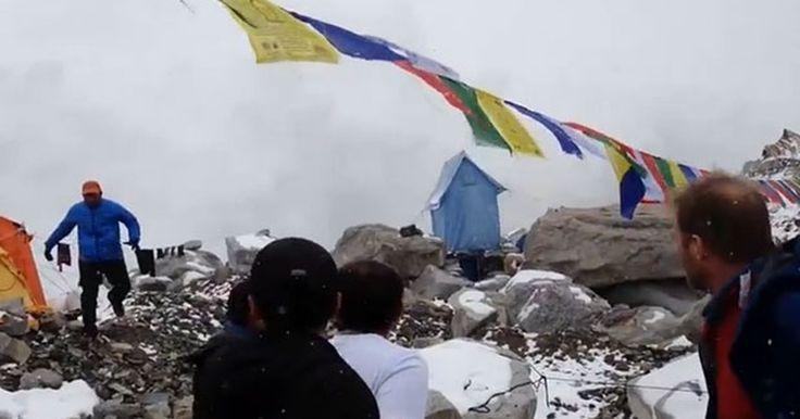 Vídeo mostra avalanche no monte Everest neste sábado