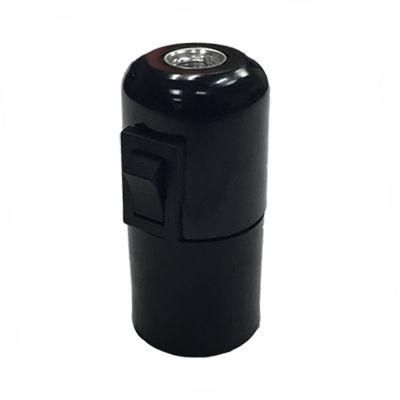 Douille E27 Bakélite Interrupteur - Douille Bakélite noire intégrant un interrupteur à bascule.
