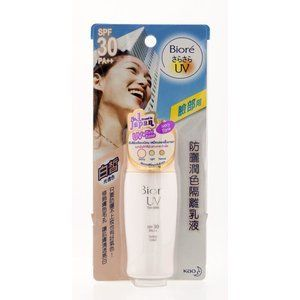 Biore UV Tint Milk Light Color 30 ml. by Biore. $23.50. Superior lightweight UV block for face with a light tint. Provides long-lasting UV protection of SPF30+/PA+++. It has an ultra light, non-sticky texture. Also an ideal makeup base, it contains Sebum-absorbing powder to give you that matt look and keep skin shine-free.