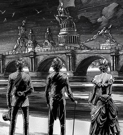 Infernal Devices Spine Art                                                                                                                                                                                 Plus