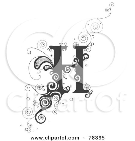 Royalty Free RF Clipart Illustration Of A Vine Alphabet Letter R By BNP Design Studio