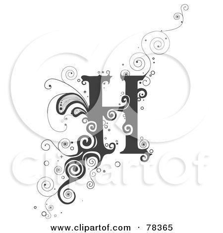 Letter Art Vine Alphabet Letter H Posters Art Prints By Bnp
