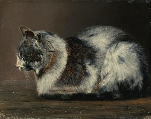 Cat         19th c.         school  of  Ivan  POKHITONOV Russian,