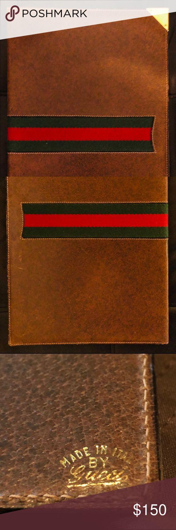 vintage gucci leather resume organizer portfolio vintage
