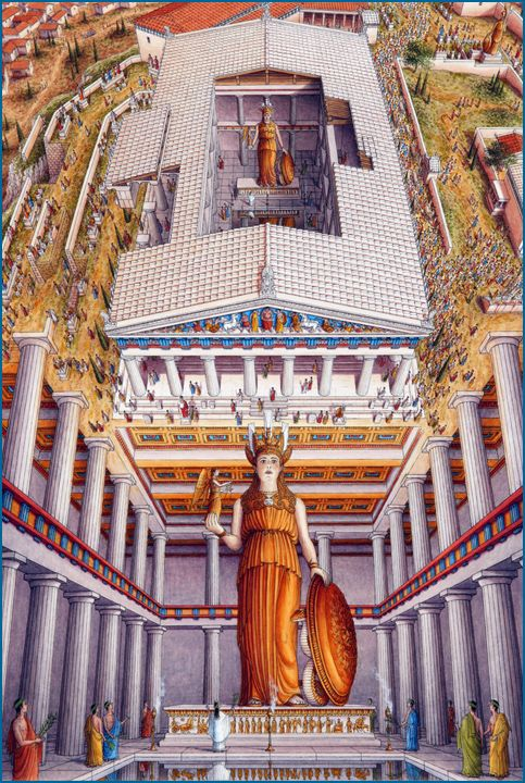 Stephen Biesty - Illustrator - Inside-out Views_Parthenon