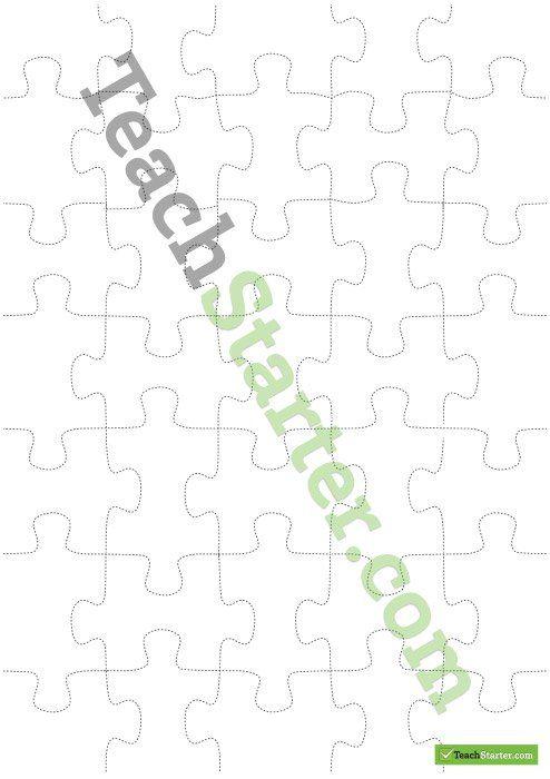 Ponad 25 najlepszych pomysłów na Pintereście na temat Puzzle piece - blank puzzle template