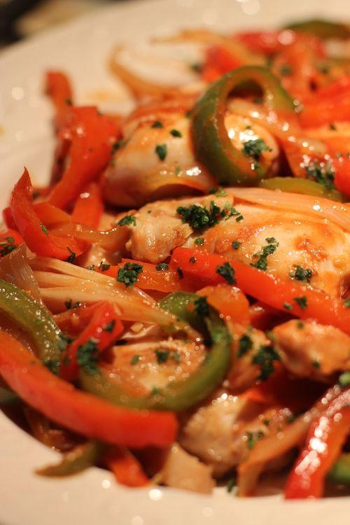 Poulet Basquaise / Chicken Basque-Style