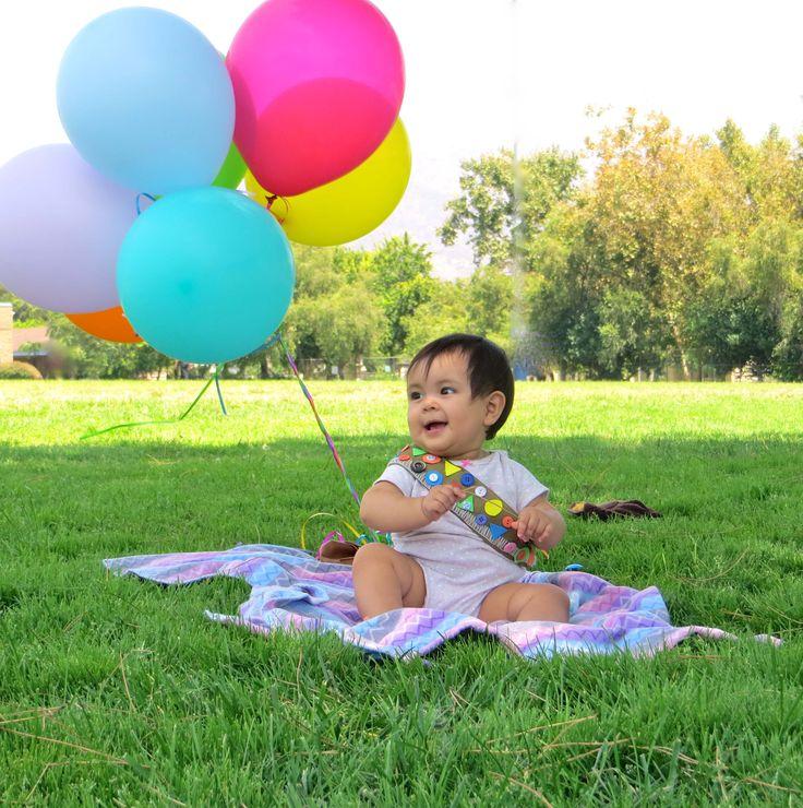 baby first birthday pixar up theme photo