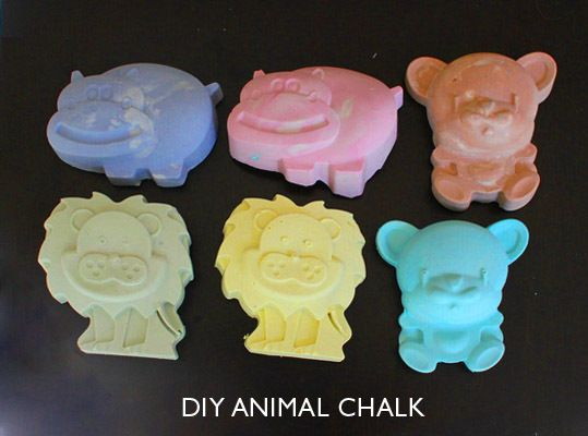 diy animal chalk, great for party favors, also