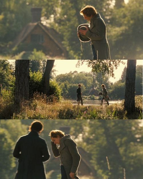 """Pride and Prejudice (2005)  One of my absolute favorite scenes from any movie whatsoever. """"Mrs. Bennet-"""" *In his deep voice* """"Mr. Bingley."""""""