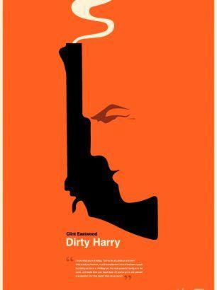 """Dirty Harry"" - Størrelse: 70cm x 100cm / A3"