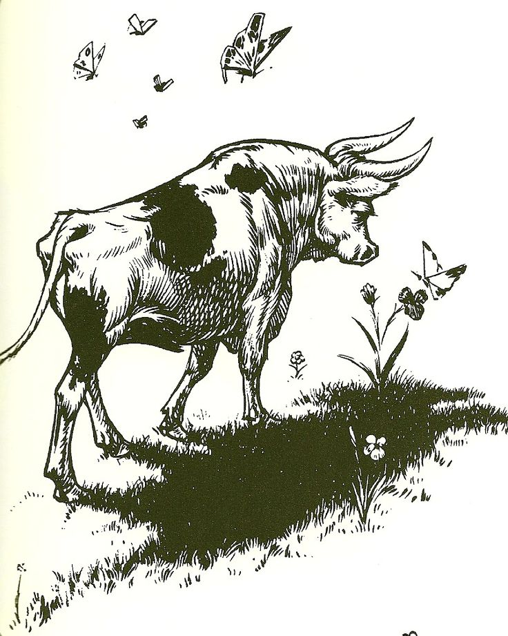 Ferdinand the Bull who would rather smell the flowers than fight. Definitely getting this tattooed!