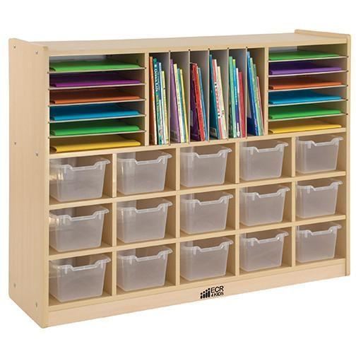 Multi-Section Storage Cabinet w/ 15 Clear Bins  sc 1 st  Pinterest & 10 best Kid Storage images on Pinterest | Toy storage units Kids ...