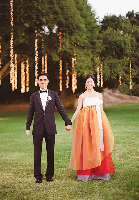 I love the idea of wearing a modern, colorful hanbok for my wedding! A mix of cultures, ftw!