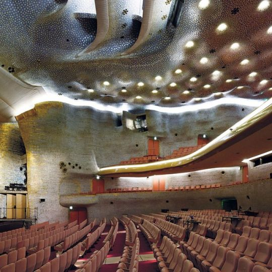 One survivor of Japan's postwar burst of design ingenuity is Togo Murano's 1963 Nissay Theatre, also in Tokyo, which today stages operas, musicals and Kabuki performances. The undulating, Gaudi-like ceiling is completely inlaid with mother-of-pearl. Read Pico Iyer's essay on Japan's ambivalent, unsentimental relationship with its Modernist architecture today on tmagazine.com