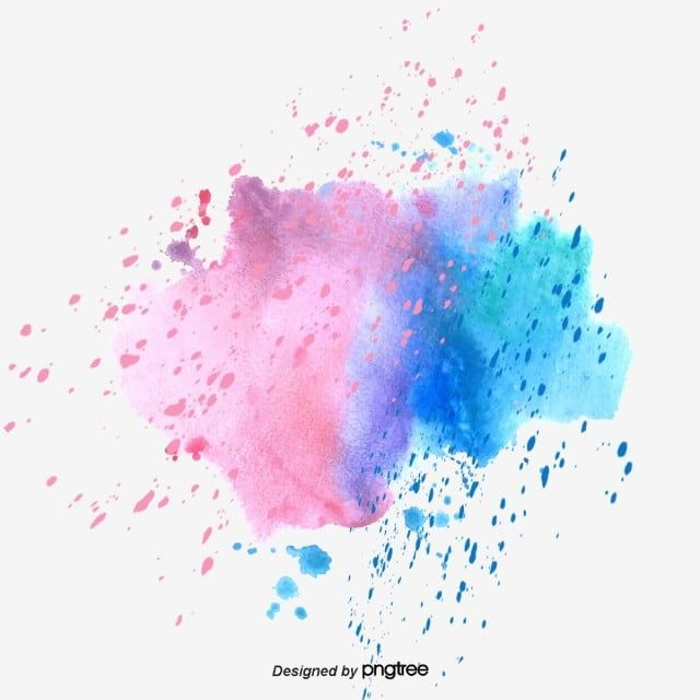 Vector Color Hand Painted Watercolor Splash Color Vector