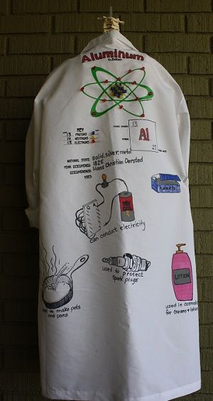 Cool lab coats you can order and custom design with your favorite element. Great class project!