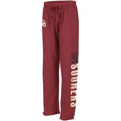 Oklahoma Sooners Ladies Cozy II Fleece Pants - Crimson