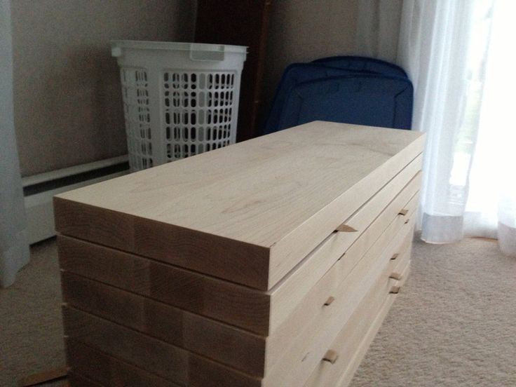 "Floating Stair Step Treads: 1 7/8""x14""x36"" Custom made hard wood treads"