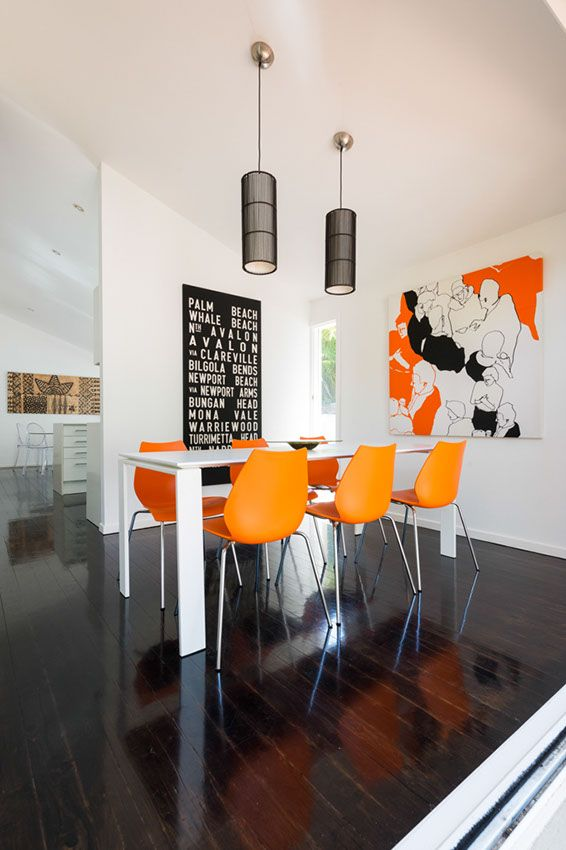 Urban pop dining room | At home with Lucy and David | Home Ideas magazine