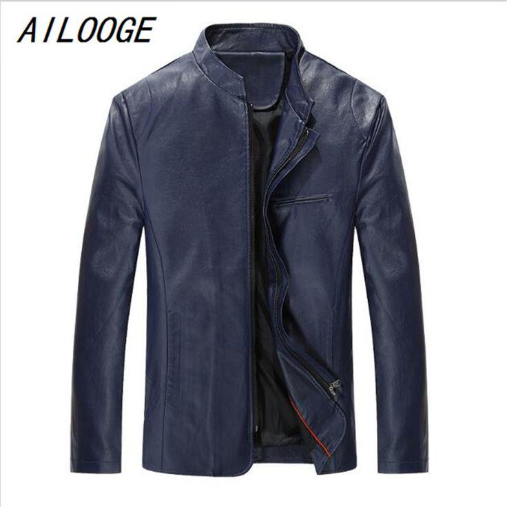 AILOOGE Plus Size 5XL New Fashion Men Faux Leather Jackets Men Coat Slim Fit Brand Red Suede Jackets Jaqueta De Couro Masculina
