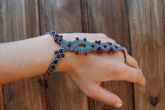 Boho Bracelet Ring Summer Barefoot Sandal by MitosKnitwear on Etsy