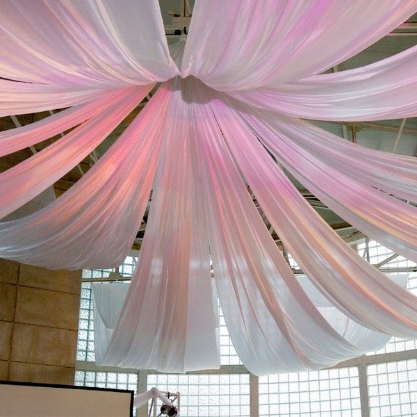 hanging fabric from ceiling ideas | Decorating with Sheer ...