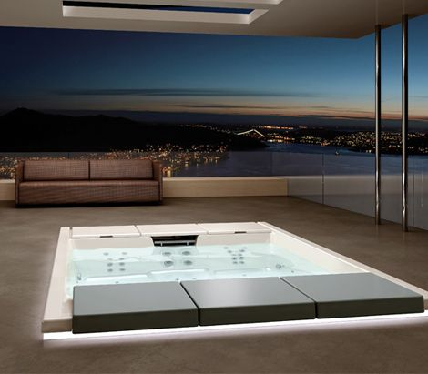 Outdoor Recessed Bathtub from Teuco - Hydrospa Seaside 640