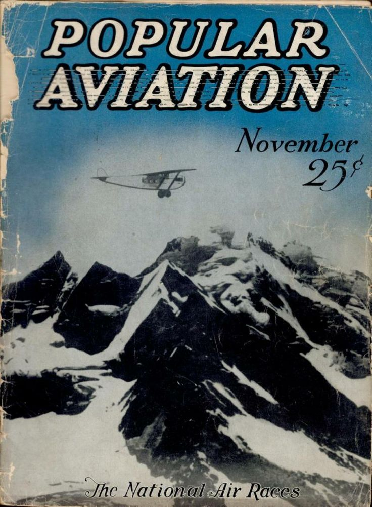 Flying Magazine's November 1927 Cover #vintage #aviation #flying