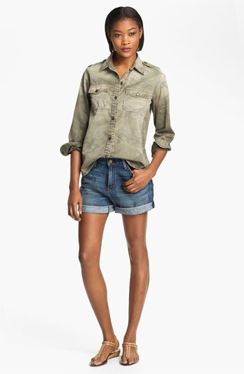 Current/Elliott 'Perfect Shirt' Camo Shirt available at #Nordstrom