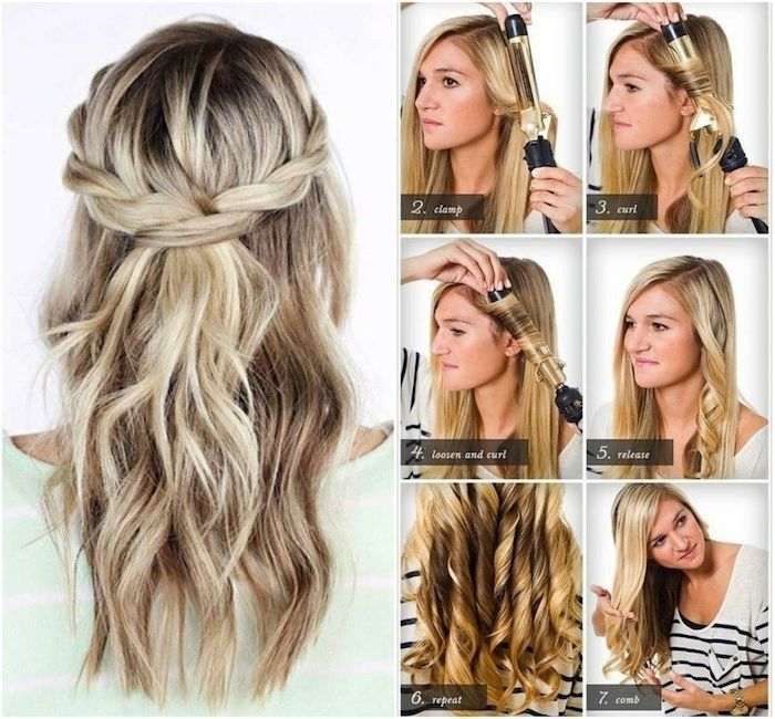 Curling With Curling Iron Straightening Iron Or Without Heat