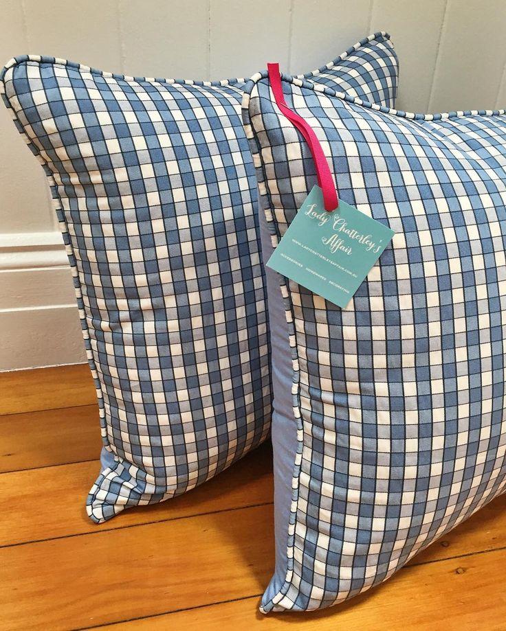 "53 aprecieri, 4 comentarii - Tina Kent (@ladychatterleysaffair) pe Instagram: ""LCA Custom Cushions for SALE!  2 cushions 50cm x 50cm Self piped, backed in plain blue  Beautiful…"""