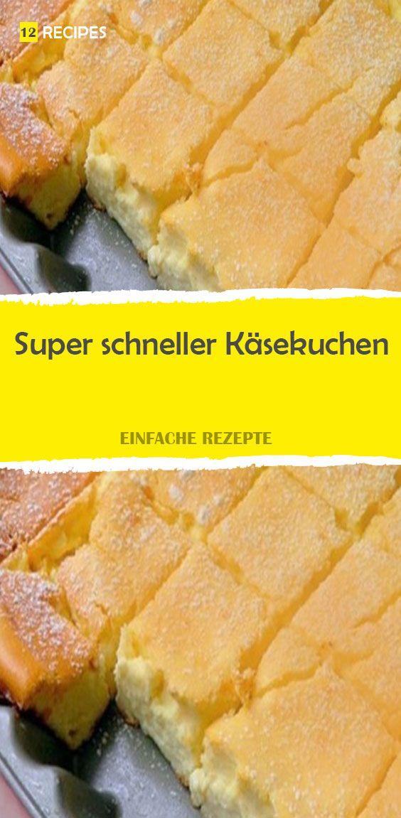 Superschneller Käsekuchen   – Apfelkuchen