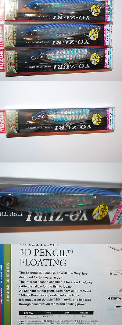 Saltwater Lures 36153: 3 Lures Yo Zuri Sashimi Pencil Floating R1072-Cpbh 5 1 1 8Oz Ballyhoo Topwater -> BUY IT NOW ONLY: $38.9 on eBay!