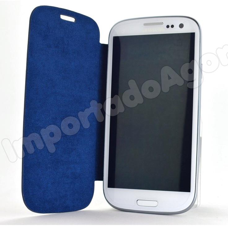 Capa Couro Luxo - Flip Cover Galaxy S3 i9300 - Para mais informações clique na imagem :)