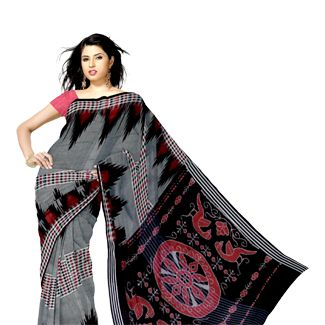onlie exclusive Sambalpuri cotton sarees, Orissa handloom saris, Sambalpuri ikkat sarees from Unnati silks, largest Indian ethnic shopping store. Worldwide express shipping to India, UK, USA, South Africa, Singapore, Oman, Mauritius, Dubai others