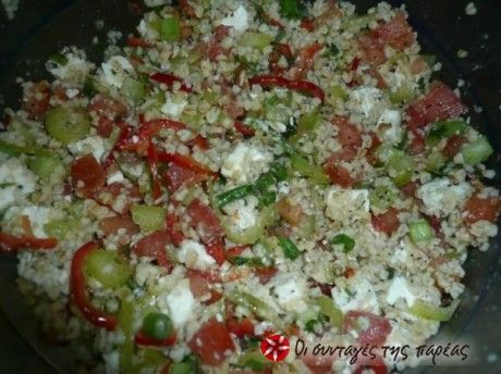 Σαλάτα με πλιγούρι και φέτα
