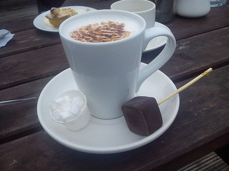 Yummy, hot chocolate after a long meeting at Lough Key Forest Park