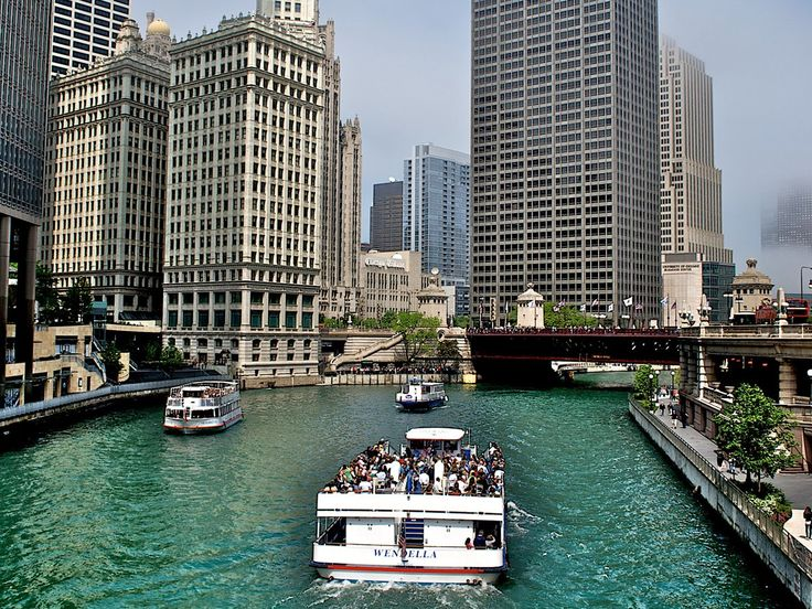 Take an architectural tour of Chicago by boat.   ..rh