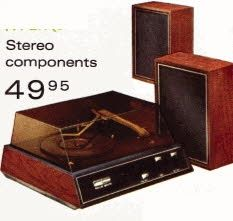 My first stereo set that I got for Christmas. My mom kept telling me that the big box contained a set of fishes for my aunt...boy was I surprised!